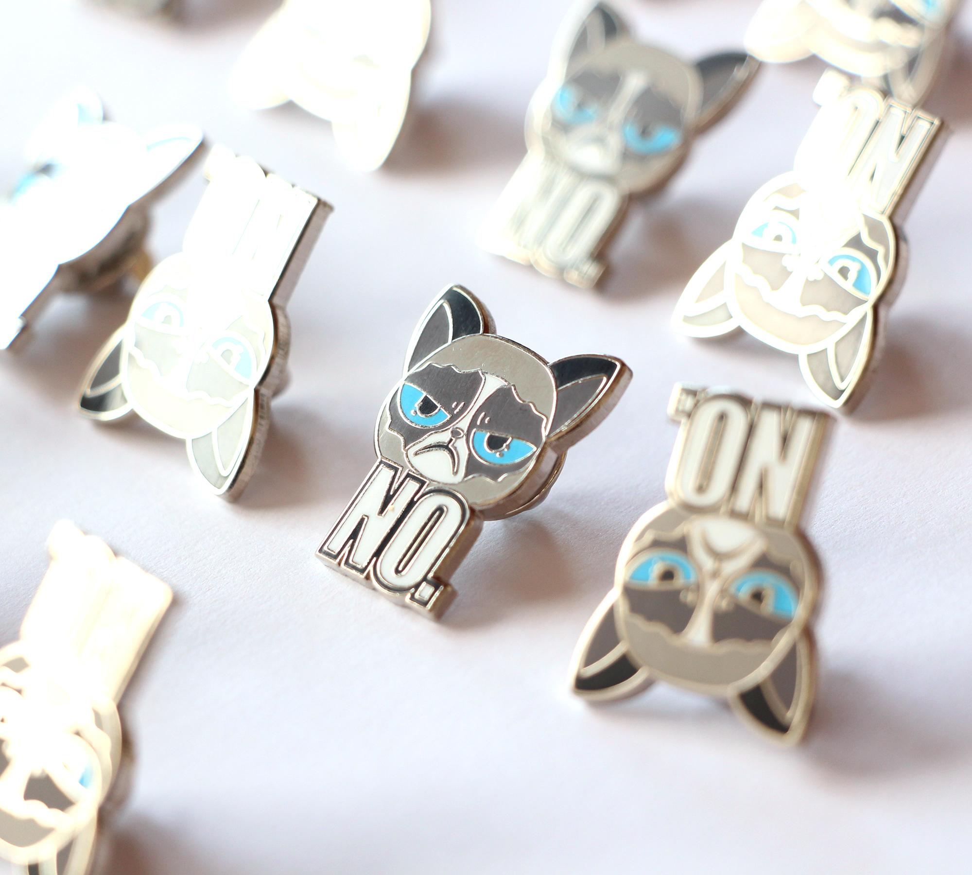 Angry Cat NO. $10.00. Enamel Pin