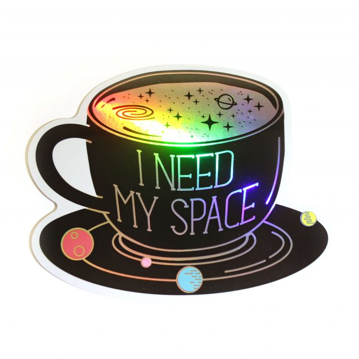 space coffe sticker